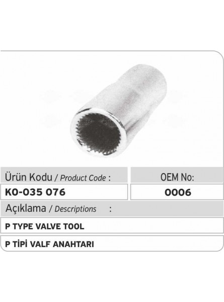 0006 Тип P Инструмент для клапанов