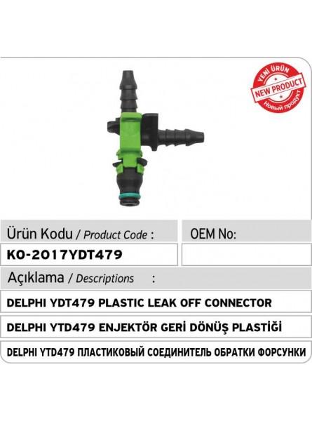 Delphi YDT479 Пластиковый соединитель обратки форсунки