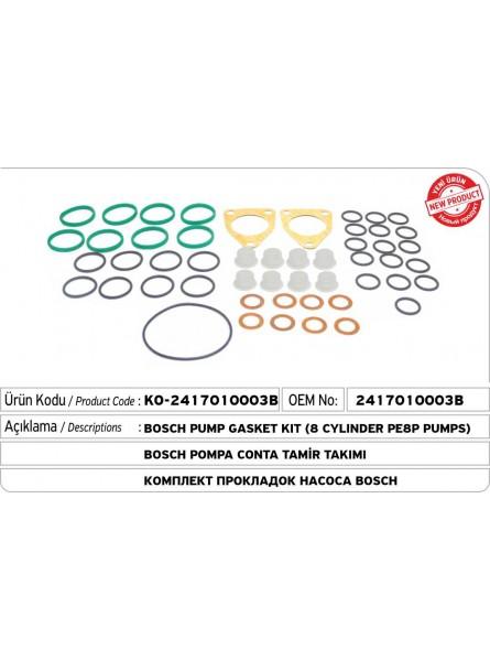 2417010003B BOSCH Комплект прокладок для насоса   (8 цилиндров PE8P Pumps)