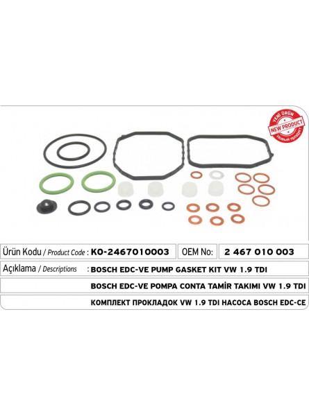 2467010003 BOSCH EDC-VE Комплект прокладок для насоса   VW 1.9 TDI