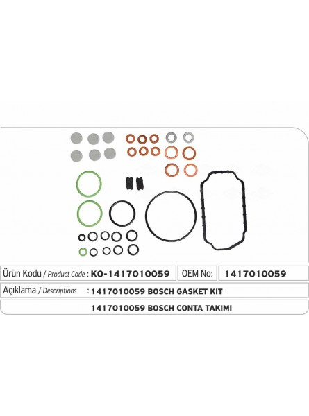 Комплект прокладок 1417010059 Bosch