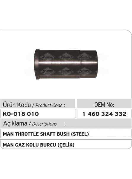 Втулка оси газа 1460324332 MAN (сталь)