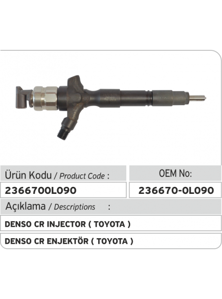 23670-0L090 Toyota Hilux Denso Injector (295050-0181)