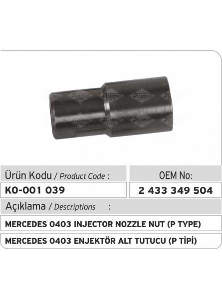 Гайка распылителя форсунки (тип P)  2433349504 Mercedes 0403