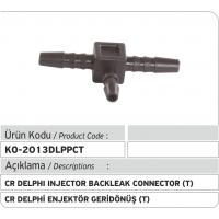 Пластиковый соединитель T обратки форсунки Delphi Common Rail