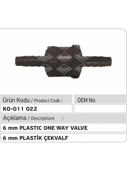 6-мм пластиковый односторонний клапан