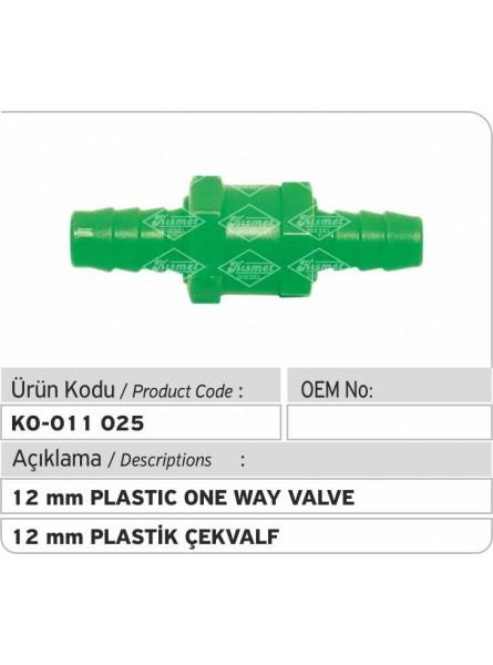 12-мм пластиковый односторонний клапан